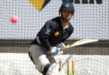 Colour-deficient: Victorian captain Matthew Wade tries to focus on the pink ball Photo: Pat Scala